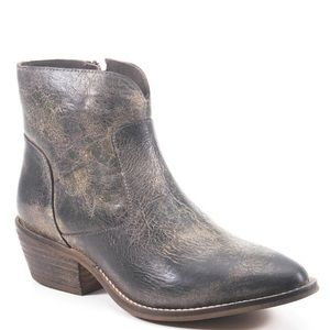 Diba True Gray leather booties NIB